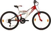 Ks Cycling Fiets 24'' kinderfiets Zodiac van KS Cycling, wit-rood, FH 38 cm - 38 cm