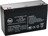AJC® battery compatibel met Panasonic LC-R6V10BP1 6V 12Ah Lood zuur accu