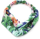 Haarband met Bloemen - Hoofdband - Groen en Blauw - Musthaves
