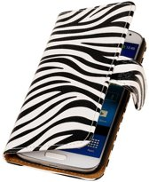 Samsung Galaxy Xcover 2 S7710 Wit   Zebra bookstyle / book case/ wallet case Hoes    WN™
