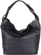 Fred de la Bretoniere Schoudertas Shoulderbag Medium Smooth Leather Zwart