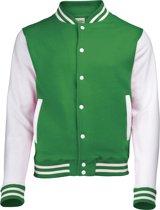 AWDis Varsity jacket, Kelly Green/White, Maat M