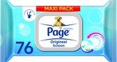 Page Vochtig Toiletpapier Maxipack - 6x 84 st - Voordeelverpakking