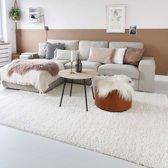 Hoogpolig vloerkleed shaggy Trend effen - crème 100x200 cm