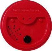 Magnetische Praatknop rood (Talking Tin), met 40 sec opname tijd.