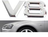 Autosticker V8 symbool/embleem - Voor elk type auto