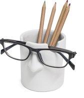 White Mr Tidy Pen Potlood Pot Leesbril Houder