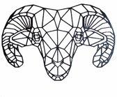 FBRK. Olifant 98 x 65 cm  Wit - Geometrische dieren -Wanddecoratie