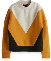 Scotch Rbelle Meisjes sweaters Scotch Rbelle Colourblock sweat in clean quality . 164