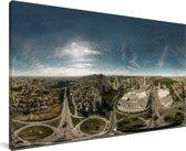 Panorama van de grote stad Belo Horizonte in Zuid-Amerika Canvas 80x40 cm - Foto print op Canvas schilderij (Wanddecoratie woonkamer / slaapkamer)