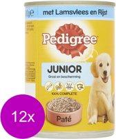 Pedigree Blik Junior Lam/rijst - 400 gram - 12 stuks