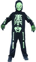 Zwart en groen skelet kostuum voor kinderen - Kinderkostuums - Maat 104/116