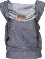 ByKay click carrier classic dark jeans denim - maat: peuter - Draagzak - Effen, Blauw