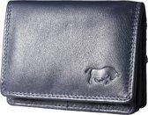 Leren portemonnee van Arrigo gemaakt van soepel donkerblauw rundleer