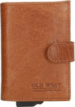 Old West Creditcardhouder - RFID - 11 pasjes - Cognac bruin