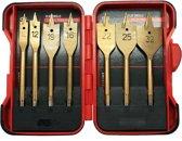Vlinderboren / speedboren 7 stuks - titanium - 10 t/m 32 mm inclusief opbergbox