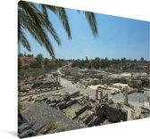 Uitzicht over Beit She'an in Israël Canvas 60x40 cm - Foto print op Canvas schilderij (Wanddecoratie woonkamer / slaapkamer)