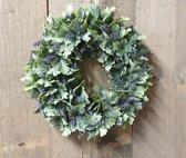 Home & Deco krans - lavendel - kunststof - 29 cm