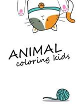 Animals coloring kids: Coloring Pages, Relax Design from Artists, cute Pictures for toddlers Children Kids Kindergarten and adults