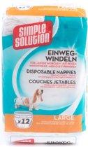Simple Solution Wegwerp Honden Luier - LARGE 12 ST 45-57 CM