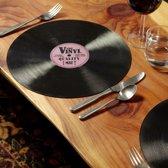 Vinyl Placemats in vorm CD plaat 8 stuks | Pride Kings®