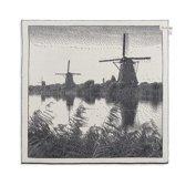 Knit Factory Molens Keukendoek Ecru/Antraciet