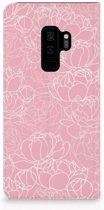 Samsung Galaxy S9 Plus Standcase Hoesje Design White Flowers