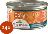 Almo Nature Cat Blik Daily Menu Mousse 85 g - Kattenvoer - 24 x Tonijn&Kip