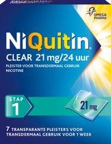 NiQuitin Clear Pleisters 21 mg - Stoppen met roken - 7 stuks