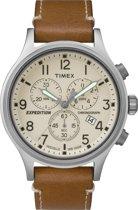 Timex TW4B09200 Scout Chrono Beige Chrono Dial Tan Strap - Horloge - 42mm - Beige