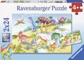 Ravensburger Kleurrijke dinosauriers Twee puzzels van 24 stukjes