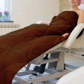 Mega Beauty Shop® Badstof gewatteerde deken Schoonheidsspecialiste Bruin - badstof