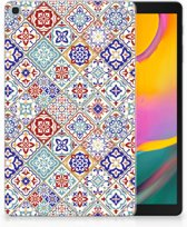 Samsung Galaxy Tab A 10.1 (2019) Uniek Tablethoesje Tiles Color