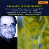 Schubert: Symphony No.3+8  1-Cd