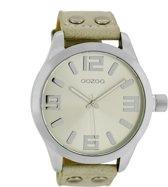 OOZOO Timepieces C1056 - Horloge - Ø 46 mm - Leer - Crème