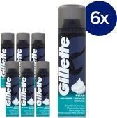 Gillette Basic Gevoelige Huid - Voordeelverpakking 6 x 200ml - Scheerschuim