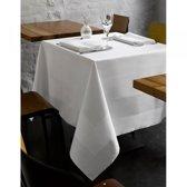 De Witte Lietaer Luna-a Tafelkleed 160 x 260 cm - damast/wit