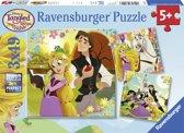 Ravensburger puzzel Disney Tangled - Drie puzzels van 49 stukjes - kinderpuzzel