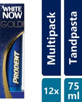 Prodent White Now Gold Tandpasta - 12 x 75 ml - Voordeelverpakking