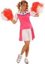 Wit met roze cheerleader kostuum voor vrouwen - Verkleedkleding - Maat L
