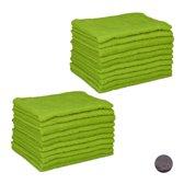 relaxdays 20x microvezeldoek groen - microvezeldoekjes - wonderdoekjes - wasbaar