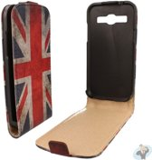Samsung Galaxy Core Plus Flip Case Hoesje - Engelse Vlag