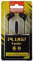 Maxell  PlugZ zwart earphone met microfoon