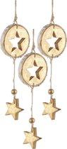 Kerstboomhanger Ster Gold (23 cm) 3 Stuks