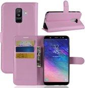 Book Case Hoesje Samsung Galaxy A6 Plus (2018) - Pink