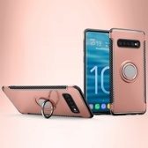 Mobigear Magnetic Ring Holder Hoesje Rose Goud Samsung Galaxy S10