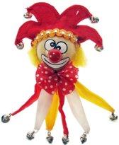 Broche clown rood/wit/geel