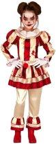 Horror clown Candy verkleed kostuum voor meisjes - Halloween verkleedkleding - Horrorclowns 5-6 jaar (110-116)
