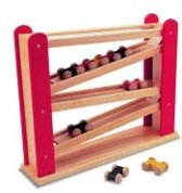 Pintoy Houten race auto rolling slope