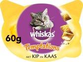 5 stuks Whiskas temptations kip kaas
